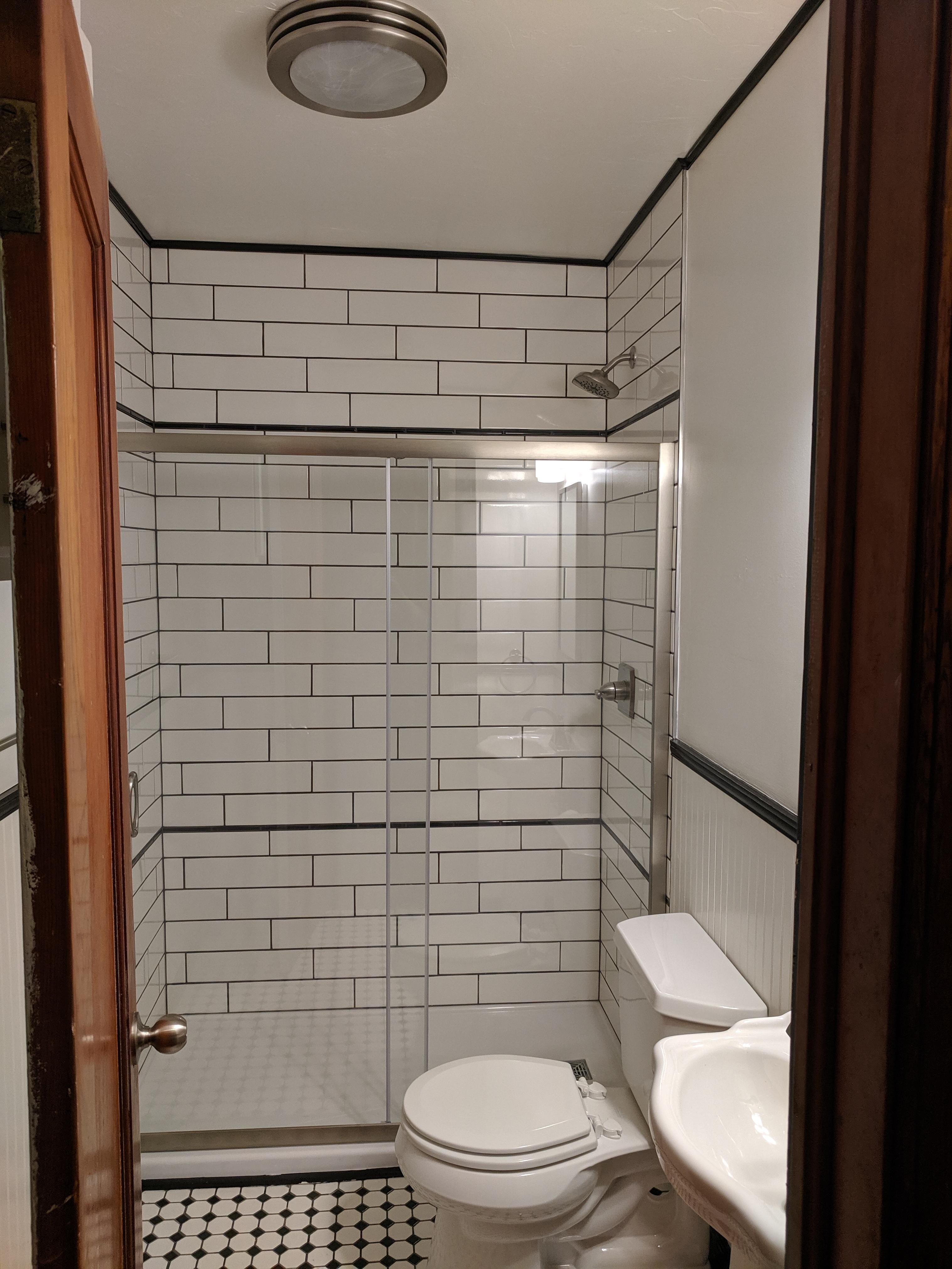 Downstairs Bathroom view looking at bathroom from door