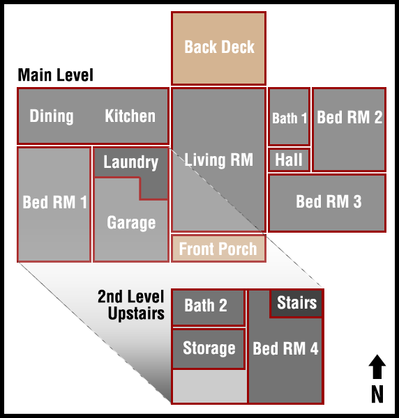 1906 West Admiral Rental Floor Layout