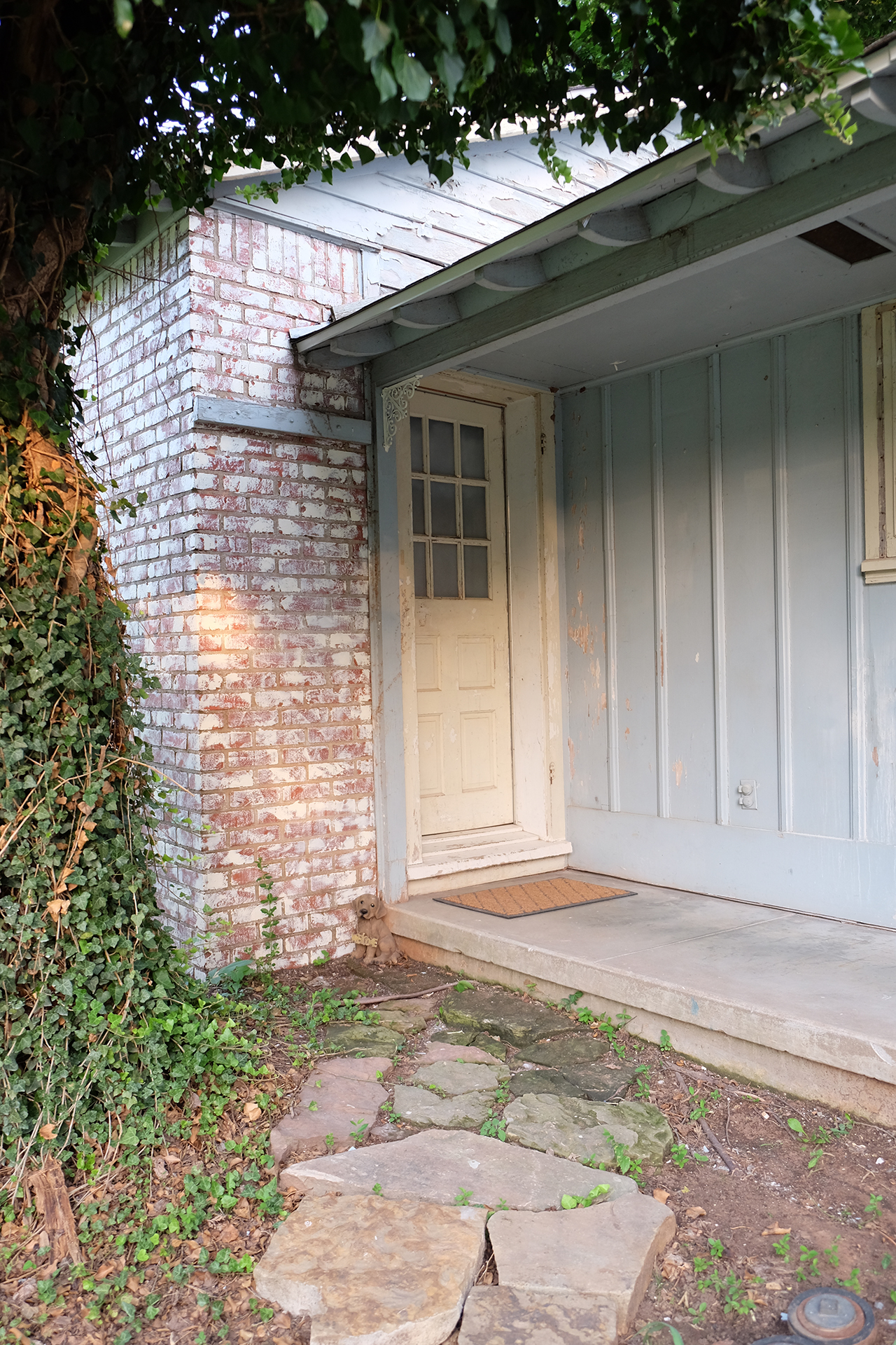 East Kitchen door on northside of house with covered porch - 102 South Kings Rent House